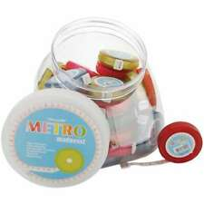 """Tacony Metro Tape Measure Display 36/Pkg-60"""" Assorted Colors W/Wh 4895126709458"""