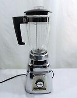 Vintage Osterizer Classic VIII Blender Chrome Black 8 speed Model 412 Series B