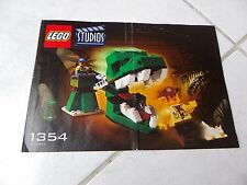 Lego Studios 1354 notice only instructions recette
