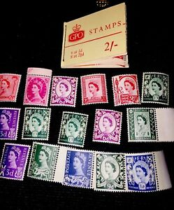 Great Britain Stamp Booklet 2/-  1964 And Individual Queen Stamps