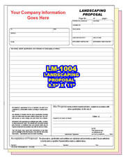 CUSTOM PRINTED LAWN CARE PROPOSAL 2 or 3 Part Carbonless