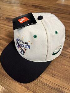 Rare Vintage OG *NEW W/TAGS* 1990s Nike Soccer Swoosh Hat Cap Swoosh Embroidered