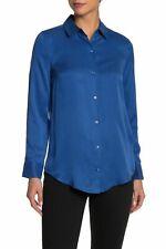 Equipment Femme Essential Women's Blouse S True Blue Silk Blend Button Top $230