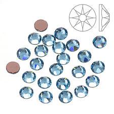Swarovski Hotfix (2078) Flat Back Crystals Aquamarine SS20 - Pack of 24 (K65/2)