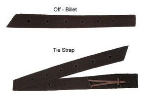 Western Tie Strap & Off Billet NYLON braun für Sattelgurt am Westernsattel
