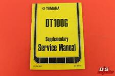 1980 YAMAHA DT100G SUPPLEMENTARY SERVICE MANUAL AHRMA VINTAGE ENDURO