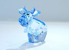Swarovski Lovlots Large Blue Belle Mo Flower Cow Signed 1041285 Brand New In Box