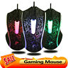 X5 3 Buttons USB Wired Lighting Mouse Optical Ergonomic Office PC Gaming Mice