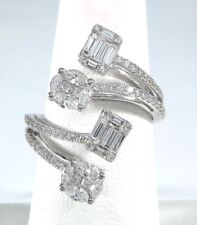 1.16ct DIAMOND White GOLD Square & Oval Ring - R9828