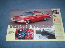 "1959 Chevy Bel Air RestoMod Article ""Winged Wonder"" Impala Biscayne"