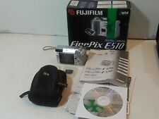 Fujifilm Finepix E Series E510 5.2MP Digital Camera bundle - Silver in box