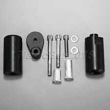 Black Motorcycle Frame Sliders Engine Protector Delrin For 08-15 Yamaha YZF R6