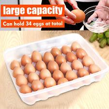 New listing 24/34 Grids Eggs Storage Box Large Capacity Hard Case Organizer Holder % /m