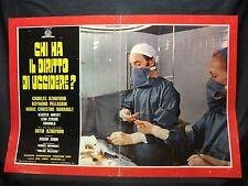 FOTOBUSTA CINEMA - CHI HA IL DIRITTO DI UCCIDERE - C. AZNAVOUR -1971- DRAMMATICO