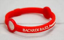 5 x Bacardi Rum Razz, Silicon Fledermaus Freundschaftsarmband, rot.