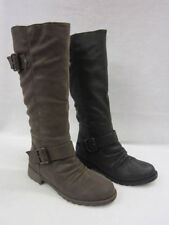 Zip Block Heel Knee High Boots for Women