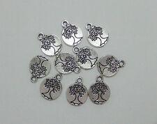 20pz charms ciondoli albero della vita colore tibetano 11,5mm bijoux