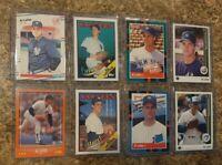 (8) Al Leiter 1988 Score Fleer Donruss Topps 1989 Upper Rookie card lot RC Mets