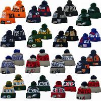 Embroidered NFL Football Team Logo Skull Beanie Cap Winter Warm Sports Ski Hat