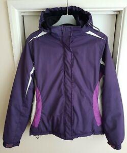 Ladies Size 10 PARALLEL Dark Purple Hooded Waterproof Windproof Ski Jacket Coat