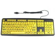USB Oversized Large Print Elderly kid Child Computer Keyboard Big Yellow Keys