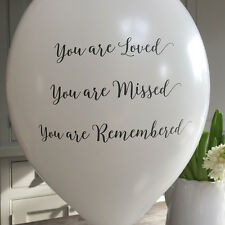 10 White Biodegradable 'You Are Loved' Funeral Remembrance Condolence Balloons