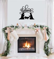 Christmas Vinyl - BELIEVE NATIVITY SCENE - X-Mas Window, Wall Art, Decal Sticker