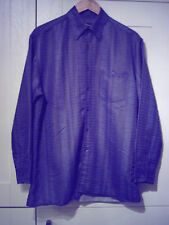GABICCI (MOD/SOUL/SKA) - ORIGINAL BLUE/GREY CHECK B/DOWN COLLAR SHIRT (M)