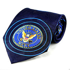 Navy Seal Sonar Mens Neck Tie US Military Blue Necktie Anchor Sailor Gift New