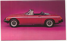 MG MGB Original BL Factory Issued Postcard USA issue