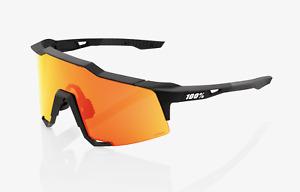 100% 100 Percent Cycling Sunglasses Speedcraft Soft Tact Black HiPER Red  Lens