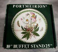 "Portmeirion BOTANIC GARDEN 10"" Cake Buffet Stand Pedestal Compote Christmas Rose"