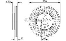 2x BOSCH Discos de freno delanteros Ventilado 276mm 0 986 479 643