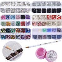 3 Pcs Nail Art Rhinestone Multi-size Decoration Adhesive Glue Picker Wax Pen Kit