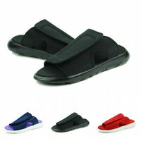 Mens Outdoor Casual Slip On Open Toe Slippers Beach Walking Sandals Shoes Flat B