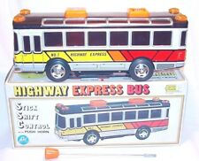 Alps Japan HUGE SIZE 37cm HIGHWAY EXPRESS PASSENGER BUS Tin Toy Batt. Op. MIB`78