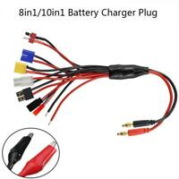 10 in 1 4mm RC Lipo Battery Multi Charger Plug Adapter Charging Cable Converter
