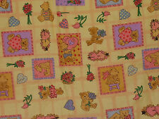 Valentines Bears Hearts 1997 Blank Textiles Fabric 1 Yard