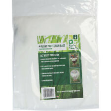 4 x Plant Protection Bags 0.6m x 0.8m Weather Cover Frost Wind Cold Shrub Bush