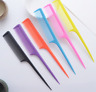 Easy to carry colored/Black Plastic Rat Tail Hair Combs Comb Size 21.5cm