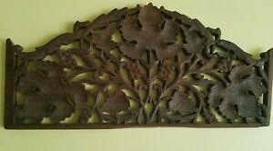 Beautiful Vintage Handcarved Wood Wall Decor With Grape & Leaf Theme, Walnut?