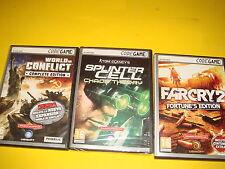 Trois jeux vidéo PC nom de code très bon État