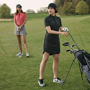 Nike Zonal Cooling Women's Golf Dress Black Gray Sizes M & L New with tags