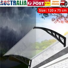 1.2m Door Canopy Awning Shelter Roof Porch Outdoor Shade Patio Rain Shield Cover