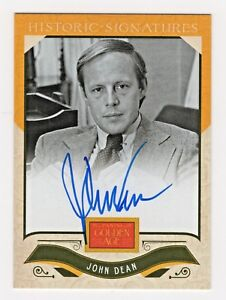 2012 Golden Age Historic Signatures Autograph John Dean Watergate Nixon Snitch