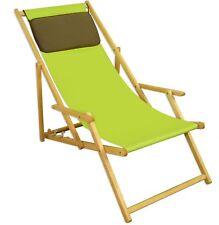 Chaise de Plage Pistache Longue Jardin Hêtre Pliable 10-306 N Kd