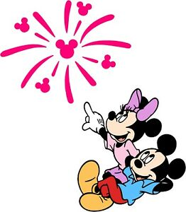 """Mickey & Minnie Mouse Watching the sky 5"""" Sticker, Decal"""