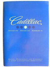 Prospectus cadillac seville, Eldorado tc 1997, 16 pages-poster seville sls
