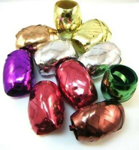 10/20/50/100 Gift Ribbon Metallic Colour Assorted Each 0 3/16in 32 10/12ft