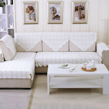 Lace Sofa Protector Cover Flower Decoration Armchair Couch Mat Elegant Slipcover